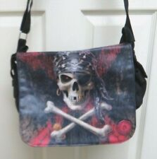 "Anne Stokes Collection ""Pirate Skull"" Messenger Bag ACK for Nemesis Now New"