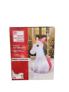 Home Accents Unicorn 4.5' Indoor/Outdoor Airblown Inflatable LED Yard Decor