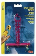 Hagen Living World  Bird Cage SPRAY MILLET HOLDER w/ BELLS