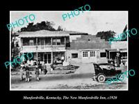 OLD LARGE HISTORIC PHOTO OF MUNFORDVILLE KENTUCKY, THE MUNFORDVILLE INN c1920