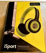 MONSTER iSport FREEDOM WIRELESS SPORT AUDIO-GREEN-I OPENED BOX & NEVER USED.