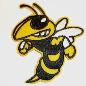 """Georgia Tech Yellow Jackets~Embroidered PATCH~3 1/8"""" x 2 5/8""""~Iron~Ships FREE"""