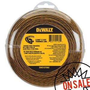 NEW DeWALT DWO1DT802 .080-Inch x 225-Foot Flexible String Trimmer Line * 🇺🇸 *