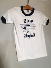 Steen Skybolt Airplane White Blue Vintage 80s Child Medium 10-12 T-shirt    NEW