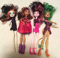 Mattel Monster High Doll Lot of 4 Dolls with Clothes