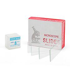 SWIFT 50pcs Microscope Slides Blank Glass +100pcs Cover Slides Coverslips Slides