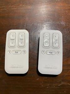 LOT OF 2 TEMPUR-PEDIC ERGO TEB-100 Wireless Remote CONTROLLERS