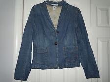 GAP Women s Denim Jacket Size 6 Blazer Jean Jacket Blue Med Wash 79a050dfcbf6