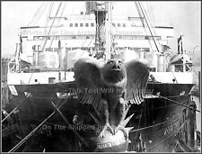 Photo: Bow View: The Bronze Eagle Of SS Imperator, 1913