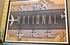 The National  Mini-Concert Poster Reprint for 2013 North American Tour 14x10