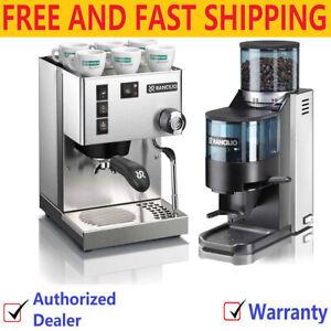 Rancilio Silvia Espresso Machine and Rocky SS Coffee Grinder with Doser Set