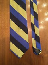 Brooks Brothers Makers Bold Striped Blue Black Yellow 100% Silk