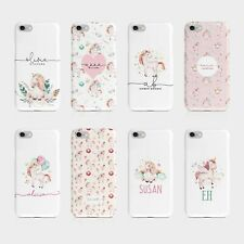 Personalised Initials iPhone Samsung Hard Phone Case Unicorns Magic Animal
