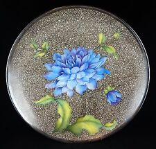 Rosenthal Large Enamel Floral Footed Bowl - Handpainted - Rare