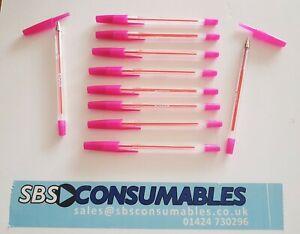 50 x Pink Focus Ballpoint Biro Pen Medium Point Smooth Ink 8640 17