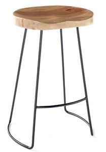 Vintage Rustic Designer Kitchen Pub Bar Designer wooden Stool Industrial shabby