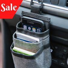 Car Storage Organizer Box Hanging Phone Holder Pocket Bucket Car Accessories