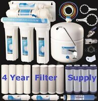 5 Stage Reverse Osmosis Drinking Water System RO Home Purifier 4YR FILTER SUPPLY