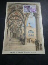 Monaco 1952 FDC CM 1 Day Tp 384, Gallery D Hercules, Architecture, VF