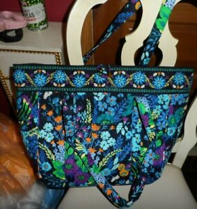 Vera Bradley Large laptop toggle tote in Midnight Blues