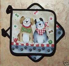 Dog Potholder Set Kay Dee Woof Pattern