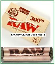RAW 300's ORGANIC Hemp Cigarette Papers and 79mm hemp plastic ROLLING MACHINE