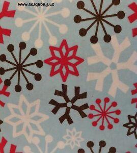 Queen Size Light Blue w/ Snowflakes Flannel 4 Piece Sheet Set Deep Pockets
