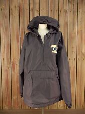Green Bay Packers Windbreaker w/Hood 1/2 Zip Vented Back Men's Blue Size XL