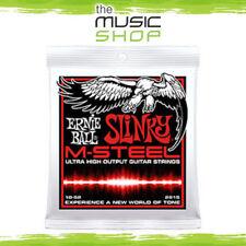 New Ernie Ball 2915 M-Steel Skinny Top Slinky Electric Guitar Strings - 10-52