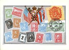 Postkarte - Reproduktion - Hawaiian postage stamps in use from 1853 to 1899