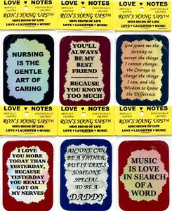 """WHOLESALE 300 3"""" x 4"""" Love Notes Mini Signs Of Life Gift Shop Carts Kiosk Sell"""
