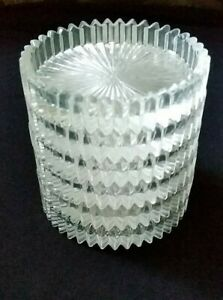 "Heisey Glass Set of 6 Ridgeleigh #1469 1/2 Coasters 3 1/2"""