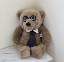 "Heartline Vintage 1987 Teddy Bear with Glasses and Tie; ""Because You're Special"""