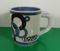 Royal Copenhagen 1972 Annual Mug Small Denmark Blues and White Fajance