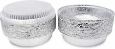 Disposable Aluminum Foil Pan Baking Oven Safe Round 7' with Dome Clear Lids
