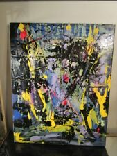 NYC CANVAS PAINTING BY MUSK YAI 16X20 GRAFFITI ABSTRACT 2017 1 OF A KIND ART ~