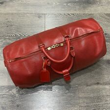 LOUIS VUITTON 100% Authentic 🌈 Keepall 50 Epi Leather Sport Bag
