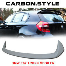 Unpainted For BMW E87 5DR E81 3DR 1-Series A Look Roof Trunk Spoiler Wing