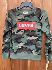 Levi's Big Boys Camo Print French Terry Pullover Sweatshirt Size XL New