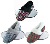 DUNLOP - Womens / Ladies Warm Cute Luxury Fluffy Comfy Knitted Home Slippers