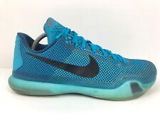RARE Nike Kobe 10 X 5 AM Flight Blue Lagoon Low Top Men's Size 11 705317-403