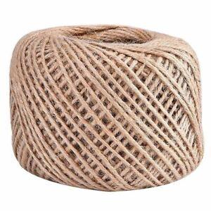 100M Natural Jute Twine Ball DIY Wrap Gift Hemp Rope Cord String Ball