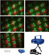 6 in 1 LED Laser Bühnenlicht Disco Party Lichteffekt Licht Lampe Projektor GX6K