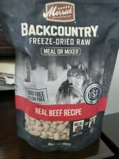Merrick Backcountry Freeze Dried Grain Free Beef Recipe Meal Mixer for Dogs 12.5