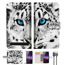 Leopard Phone Wallet TPU Case Cover For HUAWEI Y3 II 2 -- A013