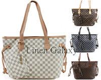 Ladies 3425 Shopper Checkered Floral Stars Printe Handbag Women Shoulder Totes