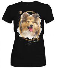 Señora camisa Shetland Sheepdog Sheltie Signature Dogs motivo by siviwonder