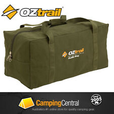 OZTRAIL XL CANVAS DUFFLE BAG Luggage Overnight Travel Carry Sports Gym Tote