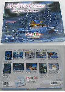Leanin Tree North Woods Christmas 20 Cards Box Envelopes
