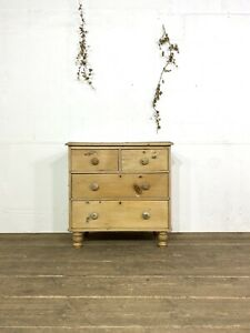 Pine Chest Of Drawers C.1880
